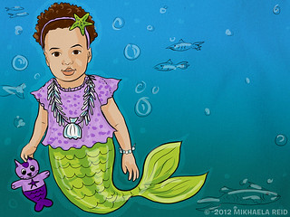 Z as a mermaid illustration--almost done! | by M1khaela