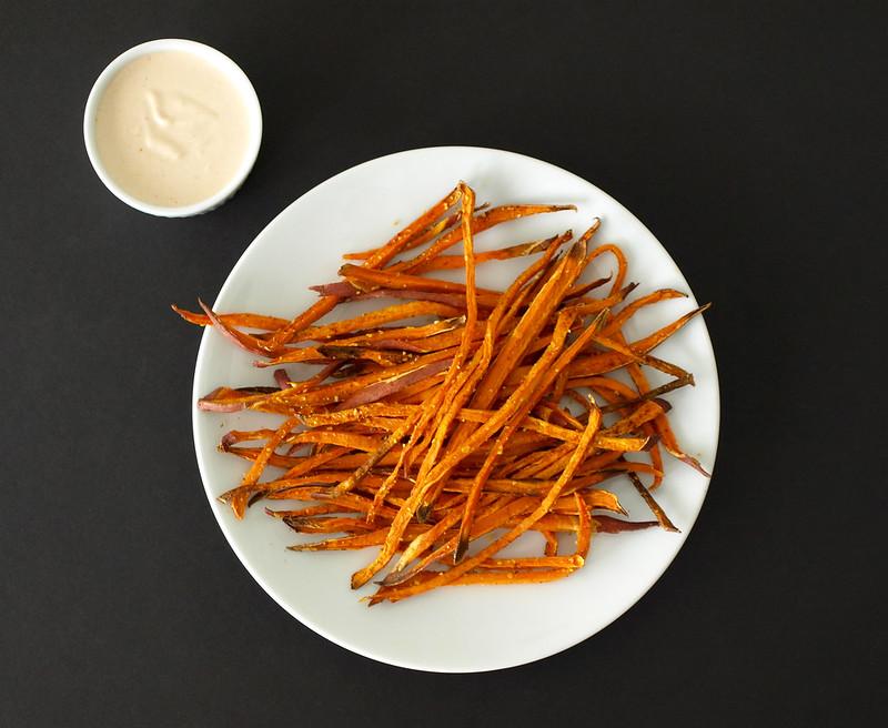Baked Sweet Potato Shoestring Fries