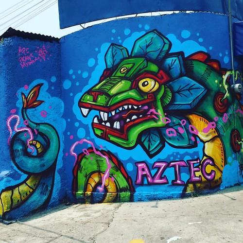 #graffiti #frankmysterio #aztecoide #aztecbike #frankmysterio #azcapotzalco #quetzalcoatl #aerosol #pinta