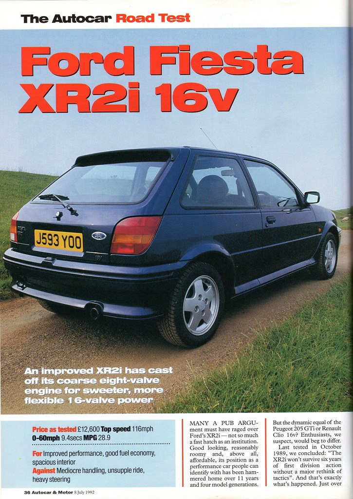ford fiesta 1 8 xr2i 16v mk3 road test 1992 flickr. Black Bedroom Furniture Sets. Home Design Ideas