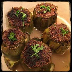 #Stuffed #Artichokes #CucinaDelloZio - garnish with fresh parsley!