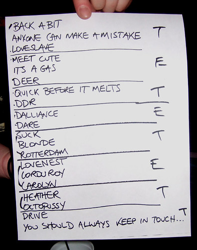 Wedding Present Setlist : The Wedding Present Setlist The Wedding Present live at th ...