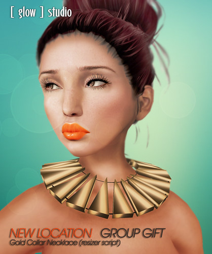 [ glow ] studio - New Location group gift - Gold Collar | by Jocelyn Anatine