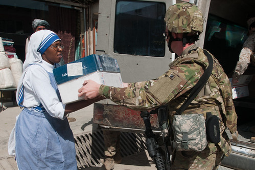 ISAF distributes donations to Mother Teresa's orphanage | by ResoluteSupportMedia