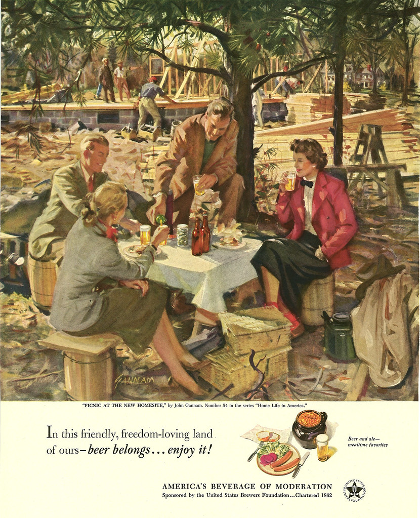 054. Picnic at the New Homesite by John Gannam, 1951