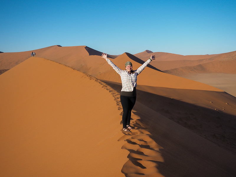 Akatuki on Dune 45 in Namibia