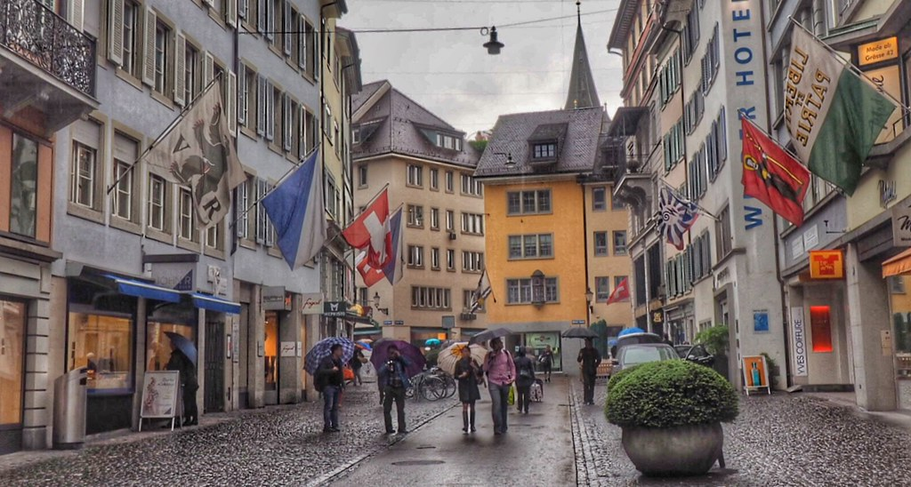 The streets of Zurich, Switzeland