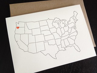 letterpressed portland heart card | by paperseed