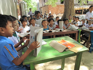 Myanmar (Burma)—Poor children who can't afford state schools can get a basic education at schools started by Buddhist monasteries. To date, AFSC has helped train about 40 abbots in school management. | by AFSC Photos