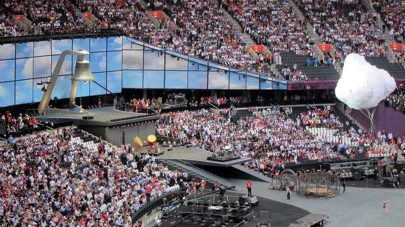 #london2012 #openingceremony the bell & a cloud