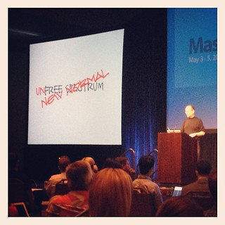 Lawrence @Lessig is blowing minds about spectrum at #MashCon | by Pete P.