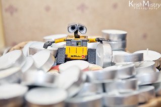 365 Project (290/365) WALL-E And The Tea Lights | by Krish Mistry Photography