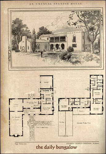 Andrew charles borzner 1928 beautiful homes daily Colonial style homes floor plans