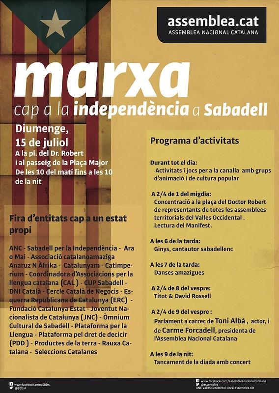 Cartells de l'ANC al Vallès Occidental