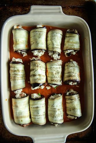 Paleo Eggplant Lasagna Rollups from HeatherChristo.com