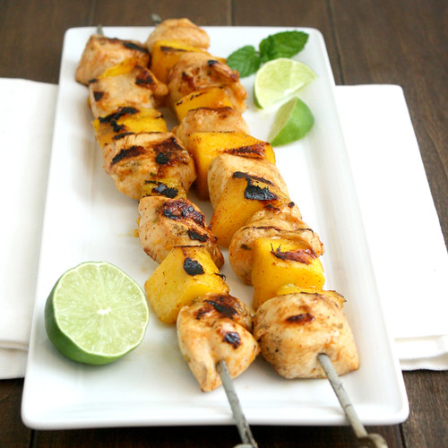 Chicken and Mango Kebabs | by Tracey's Culinary Adventures