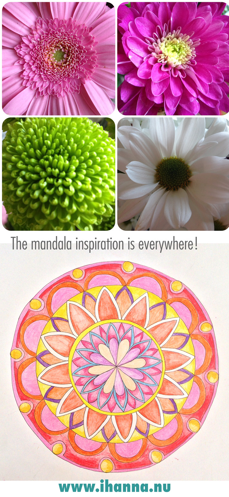 Drawing a mandala and finding inspiration - , blog post full of inspiration by @ihanna #mandalas