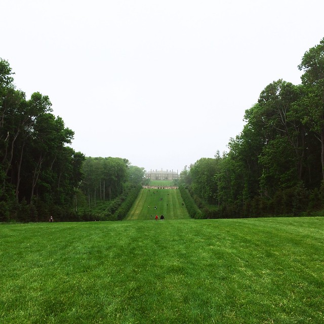 Our first visit to the Crane Estate. The lawn left me speechless. #latergram