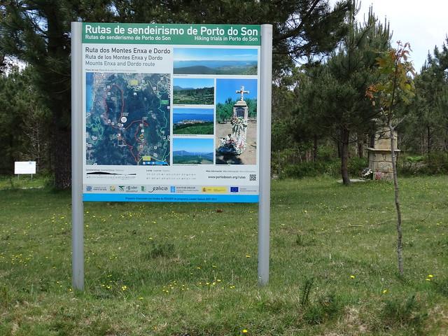 Panel Informativo Ruta dos Montes Enxa e Dordo
