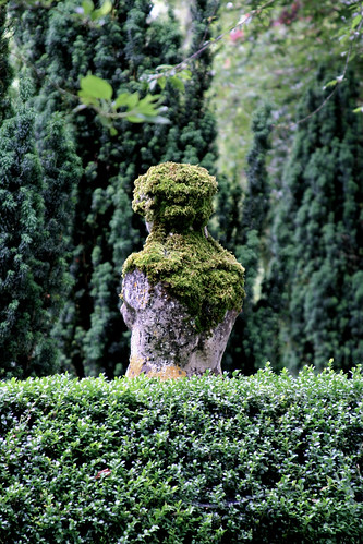 Moss Covered Statue Buscot Park Faringdon Oxfordshire