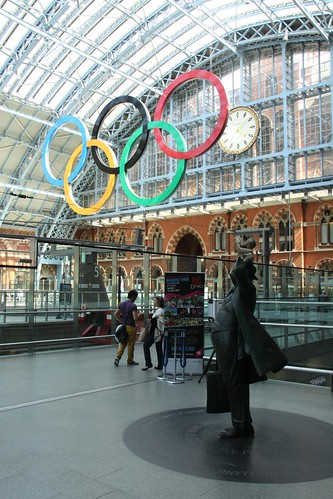 Olympic Rings - St. Pancras Station | by Dave Catchpole