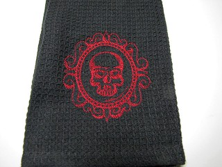 Red Skull Cameo Towel | by shaebay