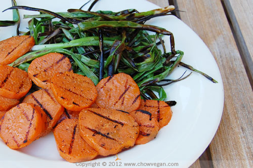 Grilled Sweet Potatoes and Green Onions | by chow vegan
