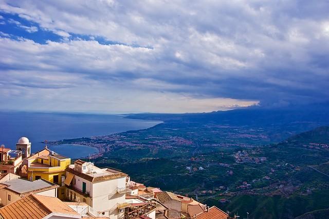 Taormina panorama from Castelmola