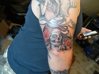 dennis thomas dia de los muertos tattoo work | by jadafiend