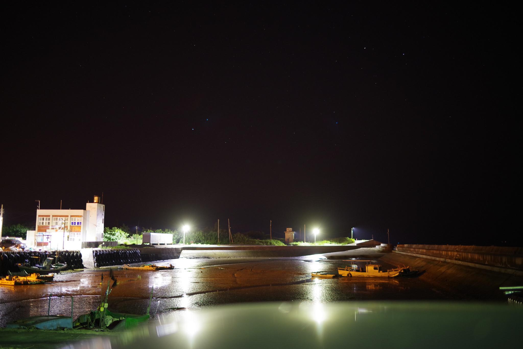 退潮的漁港