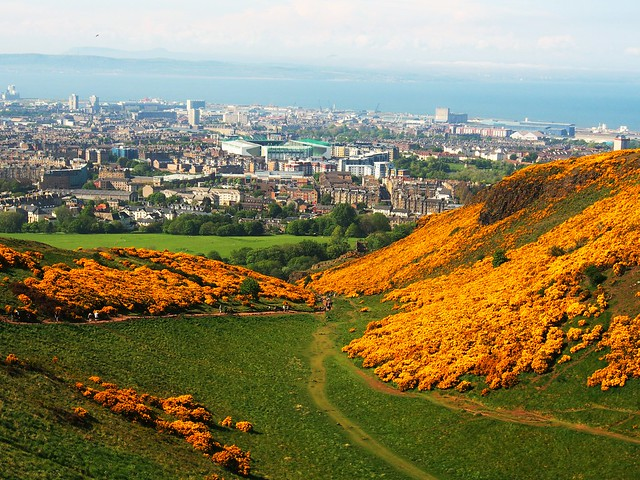 Leith and Firth of Forth from Arthur;s Seat.