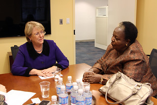 UN Women Executive Director Michelle Bachelet meets with Gertrude I. Mongella, Secretary General of the 4th World Conference on Women | by UN Women Gallery