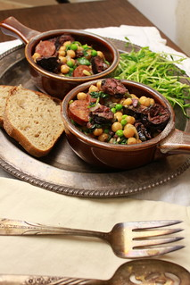 Spring time stew of morcilla and garbanzos | by SeppySills