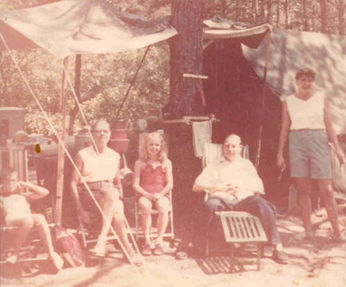 Camping trip late 1950s at White Lake State Park, NH