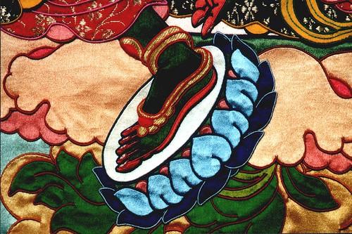 Green Tara's foot