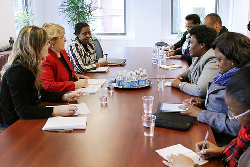 UN Women Executive Director Michelle Bachelet meets with Genoveva da Conceicao Lino, Minister of Family and the Promotion of Women and Head of the Angolan Delegation to CSW | by UN Women Gallery