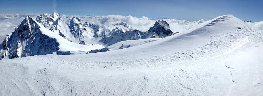 Panoramique depuis le sommet du Rocher Blanc, vue vers le Nord