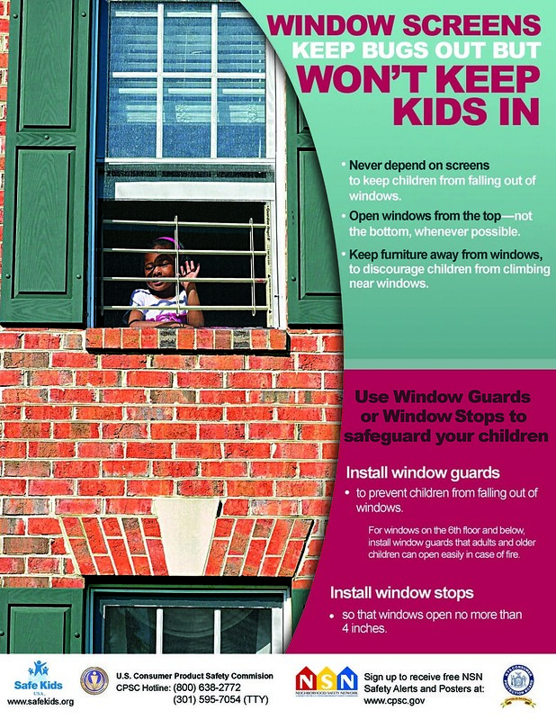 Window Safety: Screens Keep Bugs Out But Won't Keep Kids In