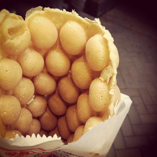 Ready to eat, Hong Kong egg waffle. Image: rcl, CC