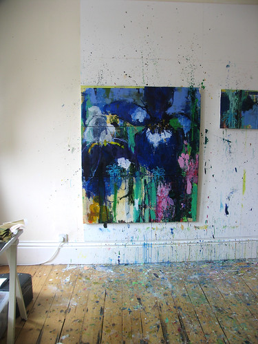 Private Gardens #4 Irises -Today Is A Good Day (studio wall) | by caroline havers