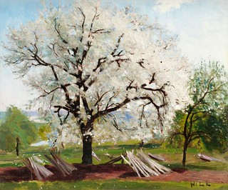 Hill, Carl Fredrik (1849-1911) - 1877 The Blossoming Fruit Tree (Bukowski's Auction 2010, Stockholm, Sweden) | by RasMarley