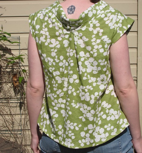Spring Green Cowly Tunic - Back View | by 7craftycats