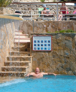 PJ in the Audax Hotel pool | by pj's memories