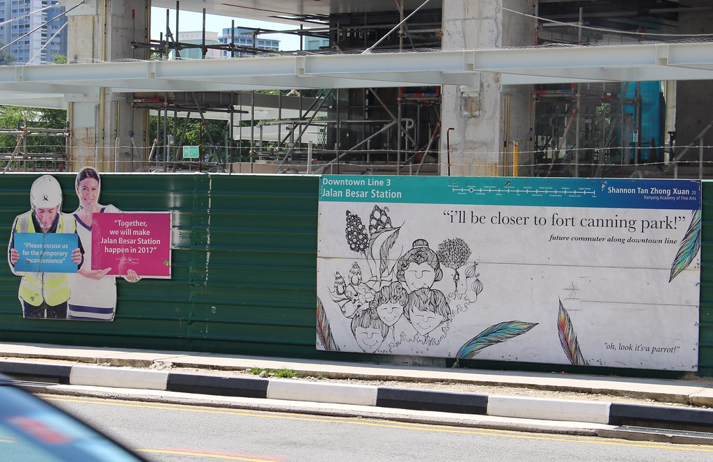 Singapore: Jalan Besar station under construction