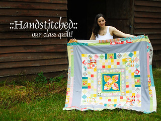 Handstitched class quilt | by StitchedInColor
