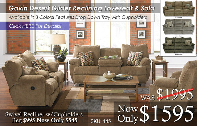 Gavin Reclining Living Set