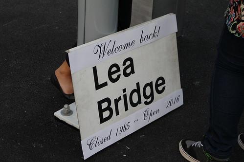 Original Sign of Lea Bridge from 1985