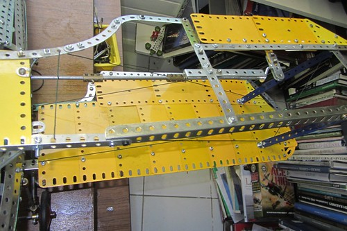 Wing frame and aileron control rodding | by Elsie esq.