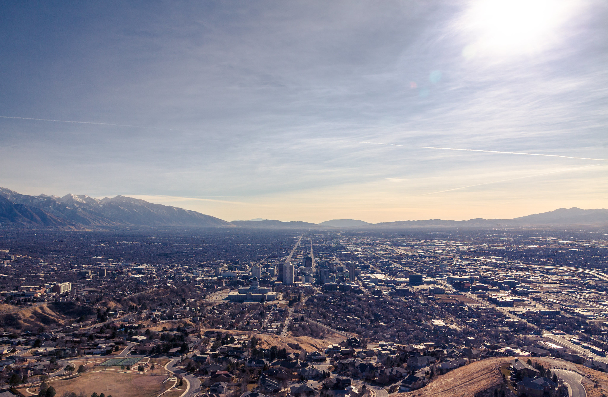 Salt Lake City as seen from Ensign Peak