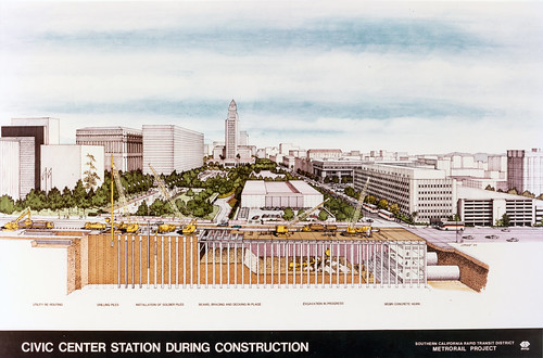 Civic Center Station During Construction | by Metro Transportation Library and Archive